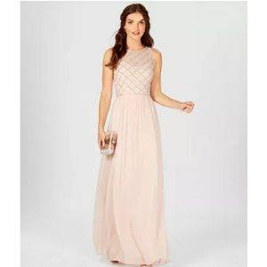 Adrianna Papell Rose Pink Formal Dress Size 14